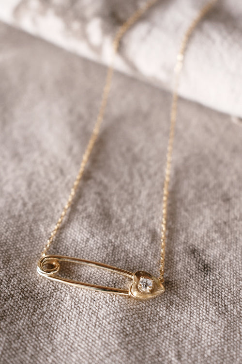Baby Safety Pin Necklace