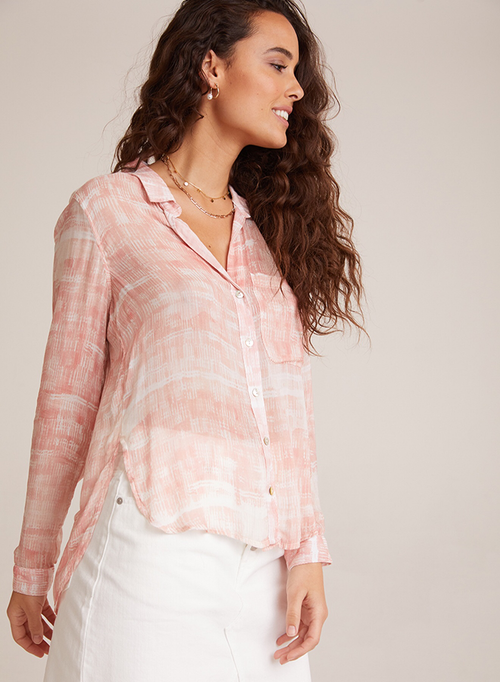 Rounded Hem Pocket Blouse by Bella Dahl