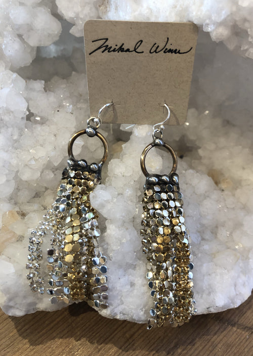 Mesh Fringe Earrings