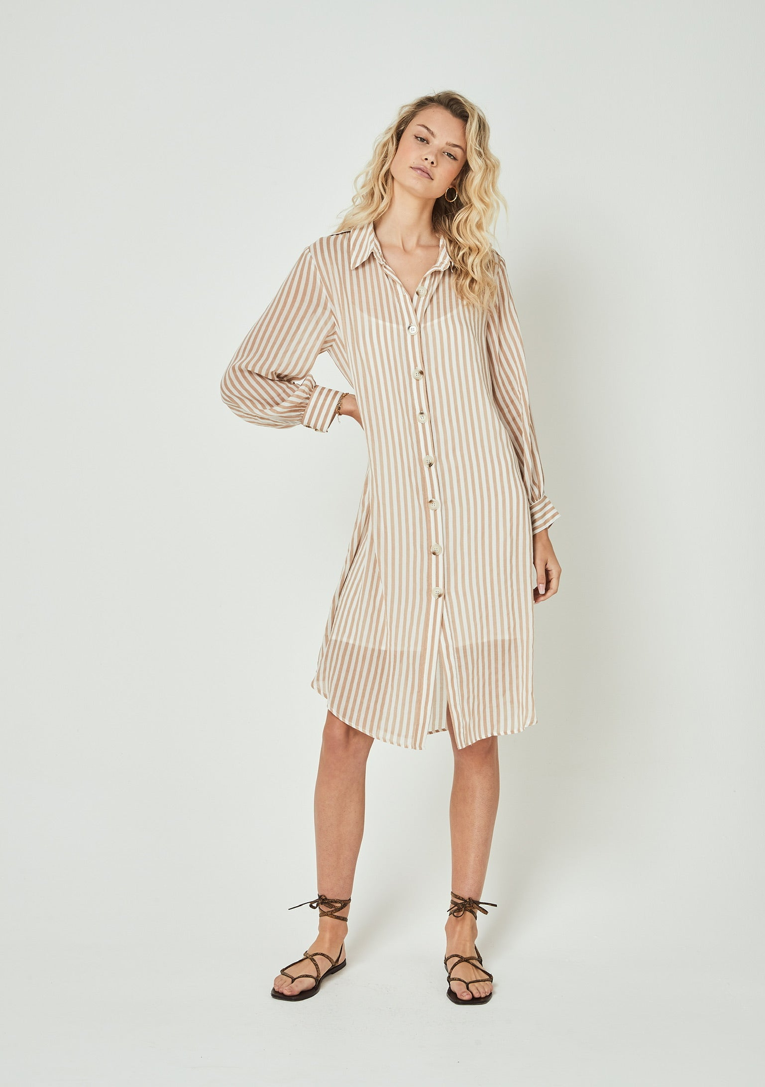 Tour Shirt Midi Dress