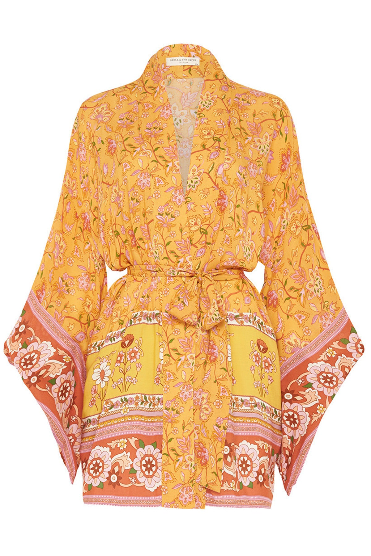 Portobello Road Short Robe-Mustard Seed