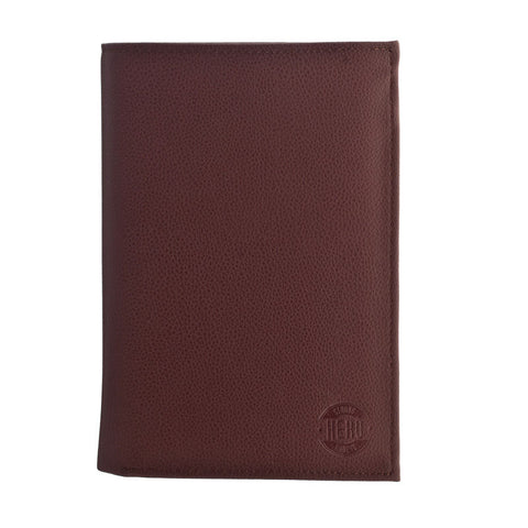 Hero Passport Holder Polk Series 630brn Better Than Leather HROP630BRN