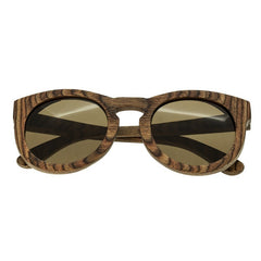 Spectrum Flores Wood Polarized Sunglasses - Brown/Brown