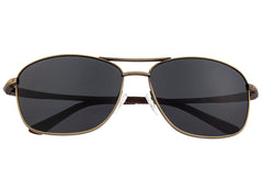 Breed Hera Titanium Polarized Sunglasses - Bronze/Black