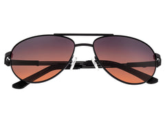 Breed Leo Titanium Polarized Sunglasses - Black/Brown