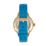 Empress Alice Automatic MOP Skeleton Dial Leather-Band Watch - Blue EMPEM3204