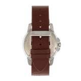 Breed Revolution Leather-Band Watch w/Date - Brown BRD8305