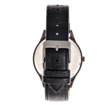 Elevon Concorde Leather-Band Watch w/Date - Black  ELE115-4