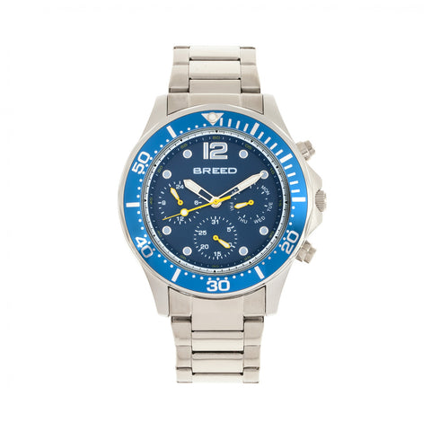 Breed Pegasus Mens Bracelet Watch - Blue/Silver - BRD8103