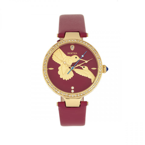 Bertha Nora Leather-Band Watch - Fuchsia  BTHBR8506