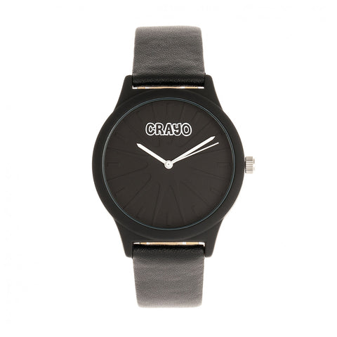 Crayo Splat Leatherette Strap Watch - Black CRACR5302