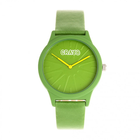 Crayo Splat Leatherette Strap Watch - Green CRACR5305