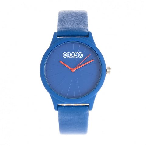 Crayo Splat Leatherette Strap Watch - Blue CRACR5306