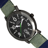 Elevon Mach 5 Canvas-Band Watch w/Date - Green ELE123-4