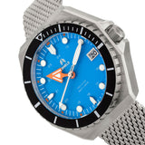 Shield Marius Bracelet Men's Diver Watch w/Date - Silver/Blue SLDSH103-4