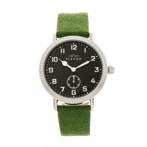 Elevon Northrop Leather-Band Watch - Green/Black
