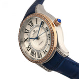 Empress Xenia Automatic Leather-Band Watch - Blue EMPEM2602