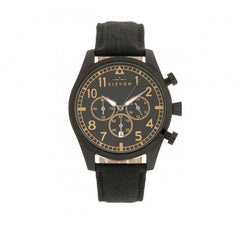Elevon Curtiss Chronograph Leather-Band Watch - Black