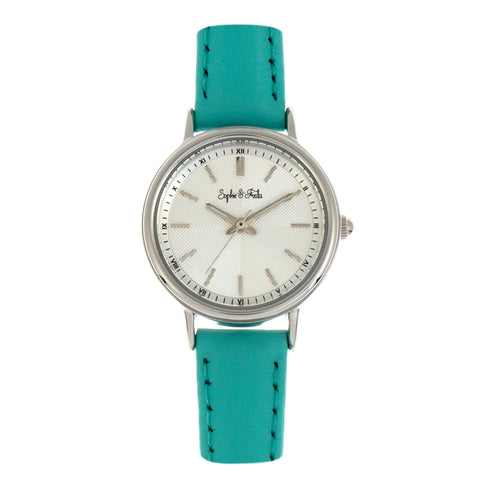 Sophie & Freda Berlin Leather-Band Watch - Turquoise SAFSF4803