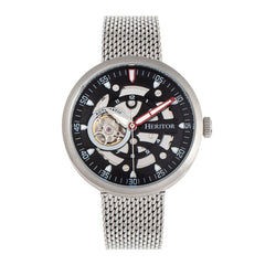 Heritor Automatic Jasper Skeleton Bracelet Watch - Silver