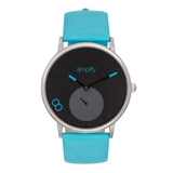 Simplify The 7200 Leather-Band Watch - Turquoise SIM7203