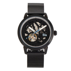Reign Rudolf Automatic Skeleton Bracelet Watch - Black