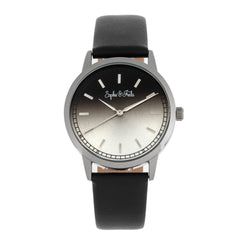 Sophie and Freda San Diego Leather-Band Watch - Black