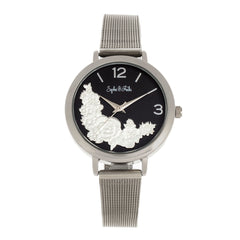 Sophie and Freda Lexington Bracelet Watch - Silver/Black