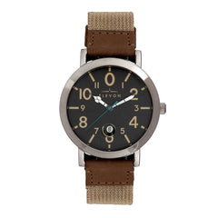 Elevon Mach 5 Canvas-Band Watch w/Date - Black