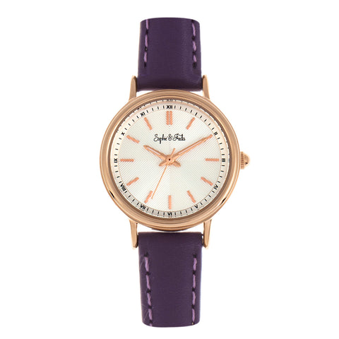 Sophie & Freda Berlin Leather-Band Watch - Purple SAFSF4805