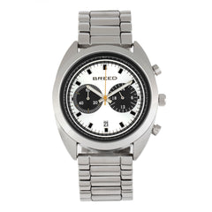 Breed Racer Chronograph Bracelet Watch w/Date - Silver/Black