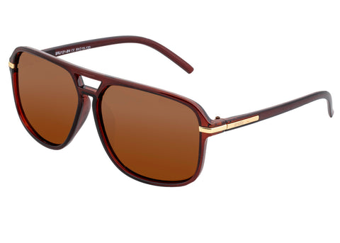 Simplify Reed Polarized Sunglasses - Brown/Brown SSU121-BN