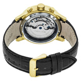 Heritor Automatic Hamilton Semi-Skeleton Leather-Band Watch - Gold/Silver HERHR4103