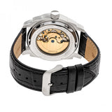 Heritor Automatic Helmsley Semi-Skeleton Leather-Band Watch - Silver/Black HERHR5006