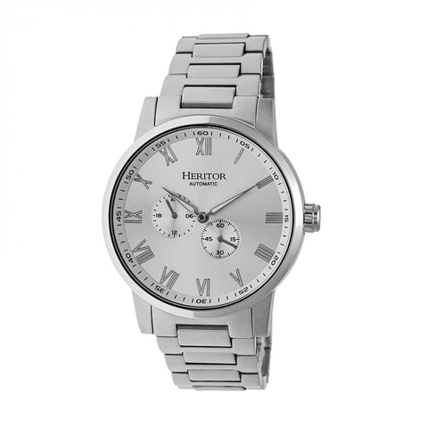 Heritor Automatic Romulus Bracelet Watch - Silver HERHR6401