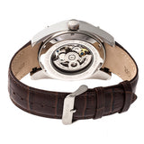 Heritor Automatic Daniels Semi-Skeleton Leather-Band Watch - Silver HERHR7404