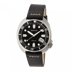 Heritor Automatic Morrison Leather-Band Watch w/Date - Black/Silver