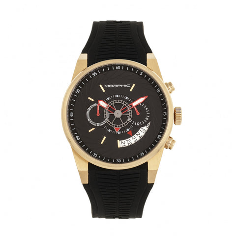 Morphic M72 Series Chronograph Men's Watch - Black/Gold MPH7203
