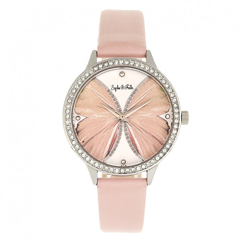 Sophie & Freda Rio Grande Leather-Band w/Swarovski Crystals - Silver/Light Pink SAFSF4601