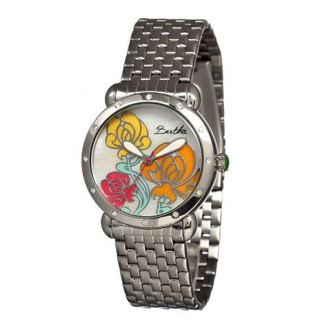 Bertha Josephine MOP Ladies Bracelet Watch - Silver BTHBR1501