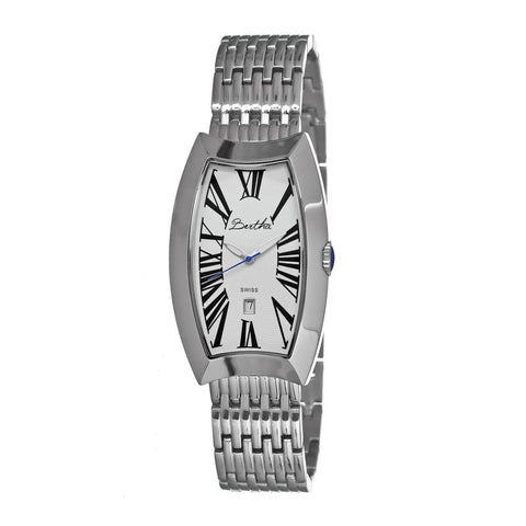 Bertha Laura Ladies Swiss Bracelet Watch w/Date - Silver/White BTHBR3201