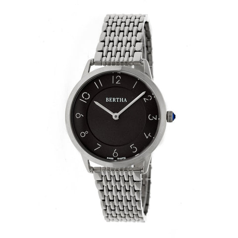Bertha Abby Swiss Bracelet Watch - Silver/Black BTHBR6802
