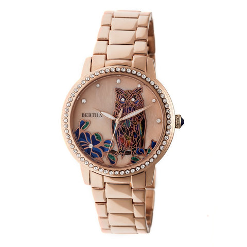 Bertha Madeline MOP Bracelet Watch - Rose Gold BTHBR7103