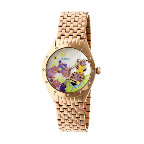 Bertha Ericka MOP Bracelet Watch - Rose Gold BTHBR7203