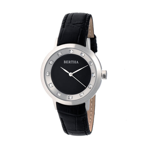 Bertha Cecelia Leather-Band Watch - Black BTHBR7501