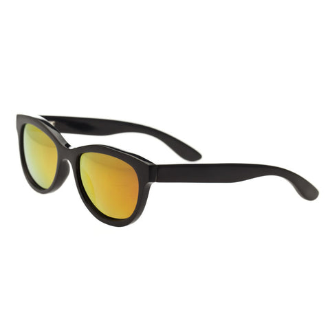 Bertha Carly Buffalo-Horn Polarized Sunglasses - Black/Gold BRSBR009B