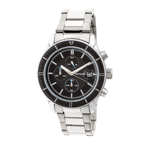 Breed Maverick Chronograph Bracelet Watch w/Date - Silver