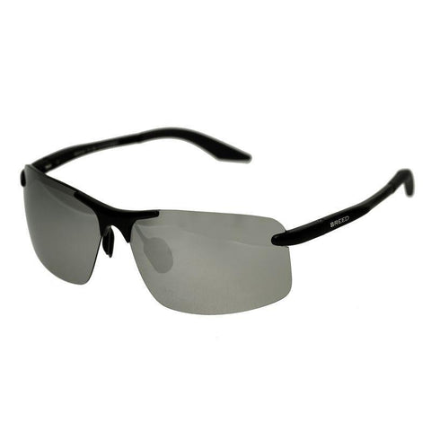 Breed Lynx Aluminium Polarized Sunglasses - Black/Silver BSG015BK