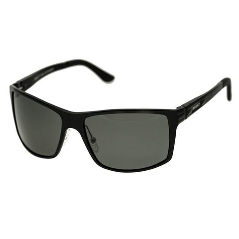 Breed Kaskade Aluminium Polarized Sunglasses - Black/Black BSG016BK
