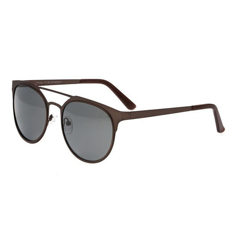 Breed Mensa Titanium Polarized Sunglasses - Brown/Black BSG037BN